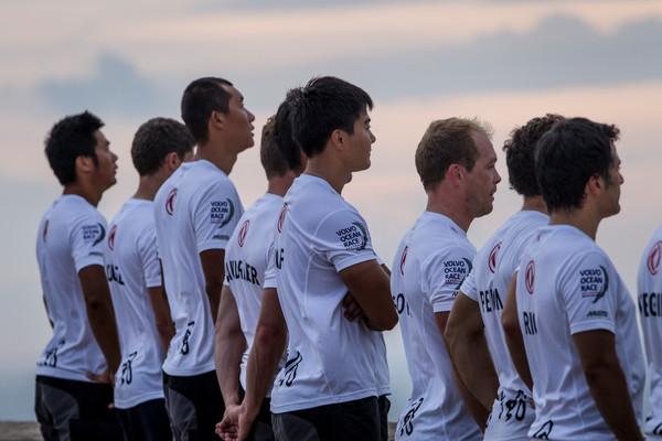 September 29, 2014. Dongfeng Race Team training at Santa Elena«s Castle.