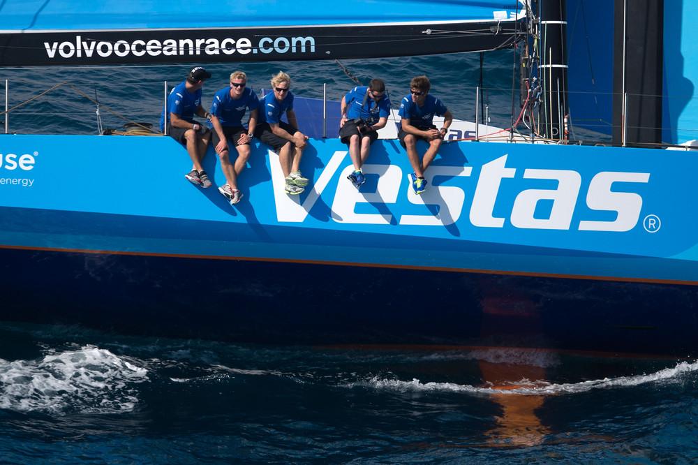 October 3, 2014. Team Vestas Wind during the  practice Race in Alicante.