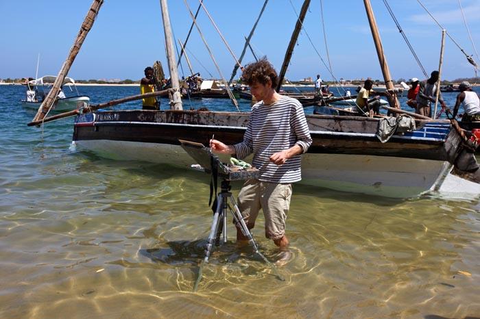 Malend im indischen Ozean mail