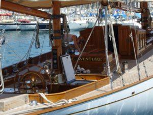 Klassische Yacht Belle Aventure im Hafen von Cannes - max. Dateibreite: 2816 Pixel , max. Dateihöhe: 2112 Pixel. Unter stockmaritime.com/ finden Sie noch mehr Bilder zu diesem Thema. | | [(c) stockmaritime.com/Detlef Jens, Anschrift/Postal Address: GentCom GmbH/stockmaritime, Ruhrstraße 19, 22761 Hamburg. Telefon/Phone: +49 40 86 66 27 14, Fax: +49 40 86 60 09 10, E-Mail: service@stockmaritime.com, homepage: www.stockmaritime.com. Konto/bank account: Hypo Vereinsbank, BLZ 200 300 00, Kto. 600 18 00, IBAN: DE81 2003 0000 0006 0018 00, SWIFT (BIC): HYVEDEMM300, U-St.-Identnr.: DE 191435005, St.Nr.: 57/835/04393]