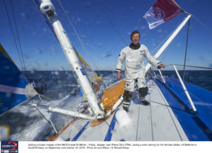Sailing onboard images of the IMOCA boat St Michel - Virbac, skipper Jean Pierre Dick (FRA), during a solo training for the Vendee Globe, off Belle-Ile in South Brittany, on September and october 16, 2016 - Photo Arnaud Pilpre / St Michel-Virbac / Vendée Globe Images embarquées de l'IMOCA St Michel - Virbac, skipper Jean Pierre Dick (FRA), pendant un entrainement solo au Vendée Globe, au large de Belle-Ile, en Septembre et Octobre 2016 - Photo Arnaud Pilpré / St Michel-Virbac / Vendée Globe